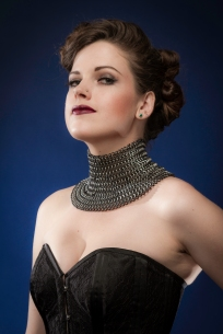 Photo by John Carey Photographic Imagery, corset by Dark Garden, neck adornment by Chain Maille Mike